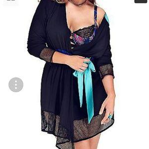 Lane Bryant Intimates & Sleepwear - NWOT Lane Bryant Sophie Theallet mesh trim robe